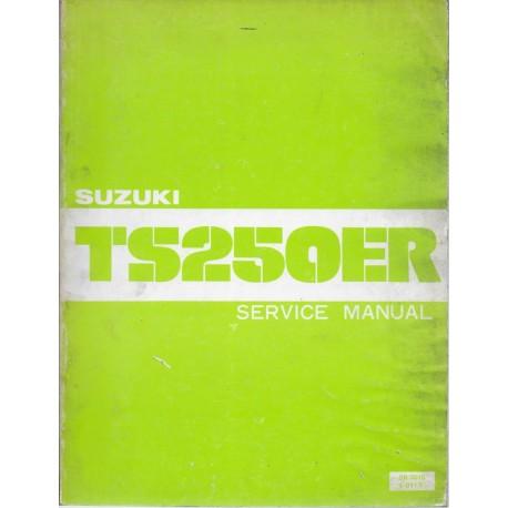 SUZUKI TS 250 ER de 1981 manuel atelier (11 / 1980)