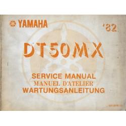 YAMAHA DT 50 MX 1982 type 12Y