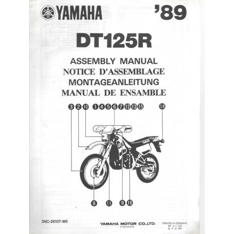 Notice d'assemblage des YAMAHA DT 125 R 1989