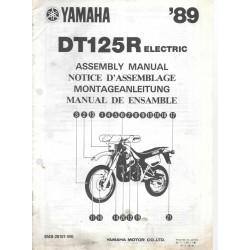Notice d'assemblage des YAMAHA DT 125 R Electric 1989