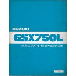 Manuel atelier additif SUZUKI GSX 750 LT de 1981 (12 / 1980)