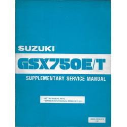 Manuel atelier additif SUZUKI GSX 750 E / T (06 / 1982)