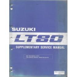 Manuel atelier SUZUKI LT 80 K de 1989 (06 / 1988)