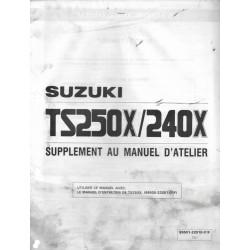SUZUKI TS 250 XK / TS 240 XK modèle 1989 (03/ 1989)