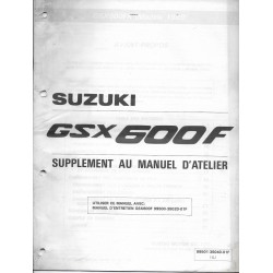 Manuel atelier additif SUZUKI GSX 600 FK de 1989 (02 / 1989)