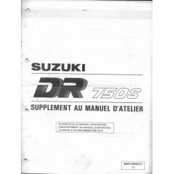 Manuel atelier SUZUKI DR 750 SK de 1989 (additif 02 / 89)