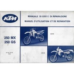 KTM 250 MX et GS 1984 Manuel de Réparation