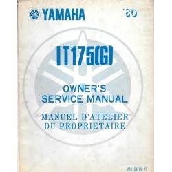 Manuel atelier YAMAHA IT 175 G 1980