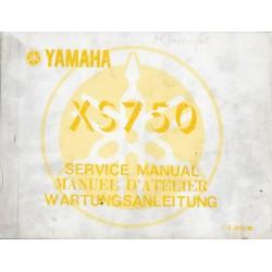 Manuel atelier YAMAHA XS 750 type 1T5 (10 / 1976)