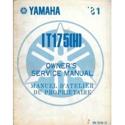 Manuel atelier YAMAHA IT 175 (H) 1981