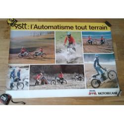Affiche publicitaire MOTOBECANE 95 TT