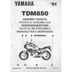YAMAHA TDM 850 1991 (assemblage 03 / 91) type 3VD