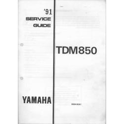 YAMAHA TDM 850 1991 (guide service 11 / 90) type 3VD