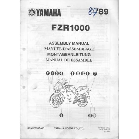 YAMAHA FZR 1000 de 1989 (assemblage 11 / 88) type 3GM