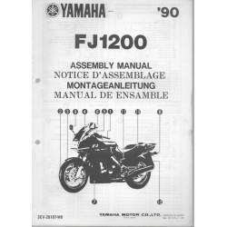 YAMAHA FJ 1200 de 1990 (assemblage 10 / 89) type 3CV
