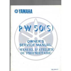 Manuel atelier YAMAHA PW 50 S 1986