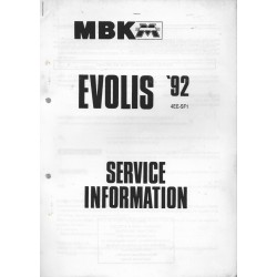 MBK / MOTOBECANE EVOLIS 1992 (M.A. 07 / 92) type 4EE