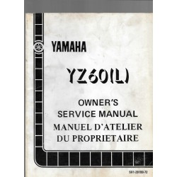Manuel atelier YAMAHA YZ 60 L 1984