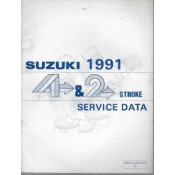 Manuel technique SUZUKI 2 / 4 temps (1991) en anglais