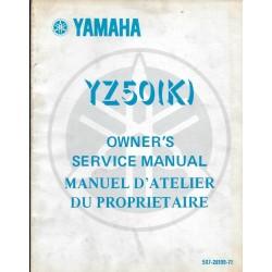 Manuel atelier YAMAHA YZ 50 K1983