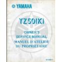 Manuel atelier YAMAHA YZ 50 K 1983 type 5X7