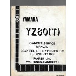 Manuel atelier YAMAHA YZ 80 T 1987