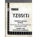 Manuel atelier YAMAHA YZ 80 (T) 1987 type 2HF