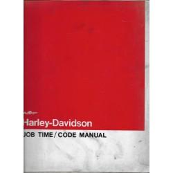 HARLEY-DAVIDSON Barême temps de travail 1977 / 1978