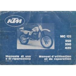KTM MC / GS 350 - 390 - 420 mai 1980 (Manuel de Réparation)