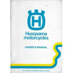 HUSQVARNA WR / CR ( 2 temps) manuel propriétaire (anglais)