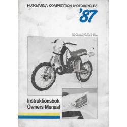 HUSQVARNA WR / CR / XC de 1987 (manuel utilisateur)