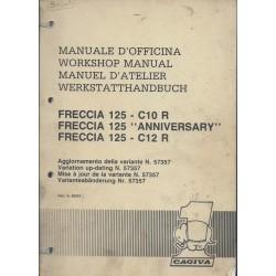 CAGIVA FRECCIA C10R / C12R 125 cc (manuel atelier 04 / 1989)