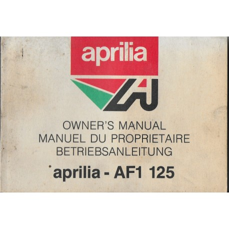 APRILIA AF1 125 cc (manuel utilisation en français)