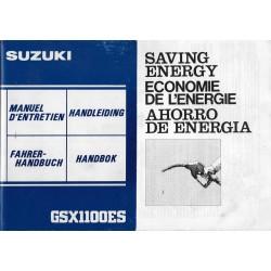SUZUKI GSX 1100 ES de 1983 (manuel utilisateur)