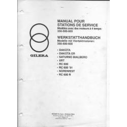 GILERA 350cc / 500cc / 600cc (manuel atelier supposé 1991)