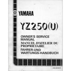 YAMAHA YZ 250 (U) type 2VM (manuel atelier 07 / 1987)