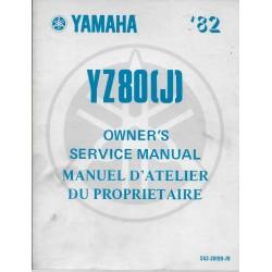 Manuel atelier YAMAHA YZ 80 (J) 1982 type 5X2