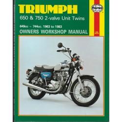 Manuel atelier Twins TRIUMPH de 1963 à 1983