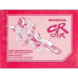 HONDA CR 125 R Type KZ4 de 1996