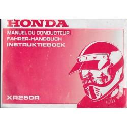 HONDA XR 250 R de 1995 (manuel utilisateur 05 / 1994)