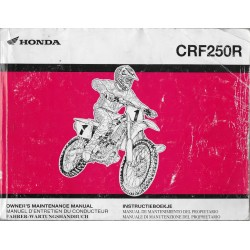 HONDA CRF 250 R (Manuel de base 01 / 2004)