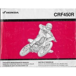 HONDA CRF 450 R de 2004 (Manuel de base juin 2004)