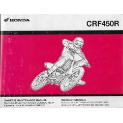 HONDA CRF 450 R de 2005 (Manuel de base septembre 2004)