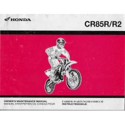 HONDA CR 85 R / R2 Type GBF de 2003 (08 / 2002)