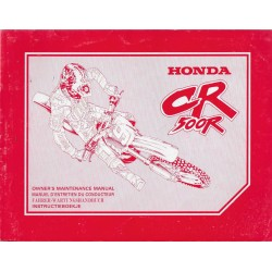 HONDA CR 500 R de 1995 (manuel de base) Type MAC