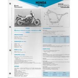 HONDA VT 500 E de 1983 Fiche RMT