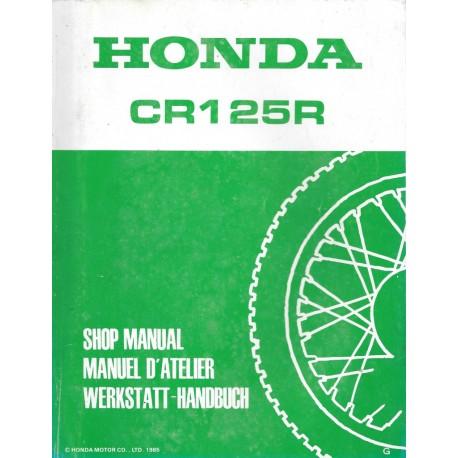 HONDA CR 125 R 1990 Manuel de base novembre 1989
