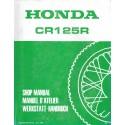 HONDA CR 125 RG 1986 (Manuel de base 10 / 85) Type KS6
