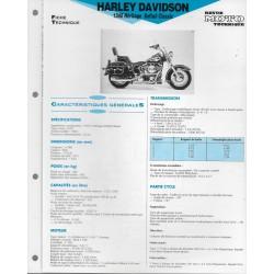 HARLEY DAVIDSON 1340 Héritage de 1992 Fiche RMT