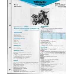 TRIUMPH 1200 Trophy de 1991 Fiche RMT